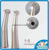 Zahnmedizinisches langsames Handpiece gegen das Winkel-1:5 fiberoptisch