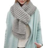 Шарфа Knit женщин шарф коренастого супер слишком большой связанный длинний (KA103)