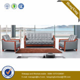 Sofa moderne de bureau de divan de cuir véritable de meubles de bureau (HX-CF001)