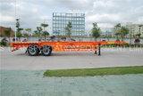 중동 시장을%s 트레일러 40 피트 반 세로로 연결되는 차축 콘테이너 포좌