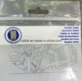 Мешок застежки -молнии LDPE Customzied прозрачный с отверстием