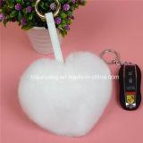 Форма Keychain сердца шерсти Fox POM Poms для украшения