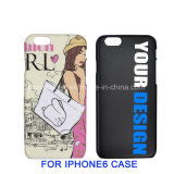 Случай сотового телефона покрытия изготовленный на заказ логоса резиновый, дешевое iPhone 6/6s аргументы за крышки мобильного телефона