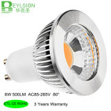 luz del punto de 6W GU10 Dimmable LED
