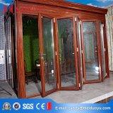 Porte de pliage lourde en verre de bâti en aluminium avec le certificat As2047