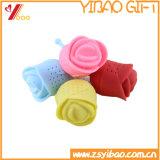 Setaccio a forma di del tè del silicone del silicone del grado di Infuser /Food del tè del silicone di disegno del fiore bello della Rosa