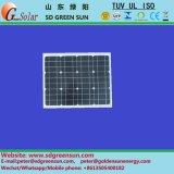 18V 30W Mono panneau solaire pour système 12V