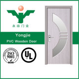 Portas de madeira impermeáveis do PVC do painel do MDF do produto da exportação