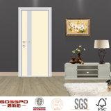 Белая составная деревянная передняя входная дверь (GSP13-002)