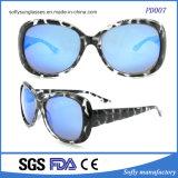 Form-Ellipse-Rahmen-Beschichtung-Objektiv-Sonnenbrillen der Überformatfrauen