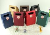 Regalo de lujo personalizado de embalaje bolsa de papel con estampado en caliente