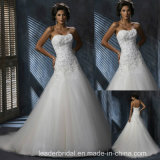 레이스 Tulle 결혼 예복 Mz3021를 구슬로 장식하는 에이라인 신부 드레스