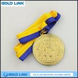 鋳造の金メダル子供の昇進のギフトのためのカスタムメダル円形浮彫り