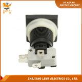 Bouton poussoir carré électrique en plastique blanc de contacteur Pbs-008