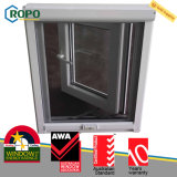 Casement Windows da prova do furacão de UPVC com vidro dobro