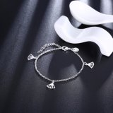 Monili d'argento Pendant delle donne del braccialetto delle donne placcati argento di modo