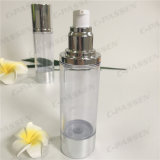 80ml Lotion-Flasche des Kunststoffgehäuse-Siliver mit luftloser Pumpe (PPC-ASAB-042)