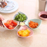 Bandeja do prato de fruta do alimento, venda por atacado de madeira e de bambu natural da placa (YK-P3023)