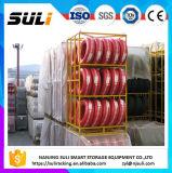 Speicherladeplatten-Racking-Puder beschichtet, Zahnstangen-Gummireifen-Zahnstange für Reifen stapelnd