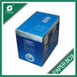 파란 광택 있는 인쇄된 물결 모양 화물 박스