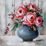 ホーム装飾的で抽象的な花の油絵