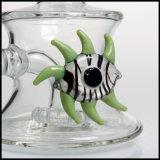 Tubo di acqua di vetro di fumo di Perc dello Showerhead del narghilé dell'occhio verde di Hfy