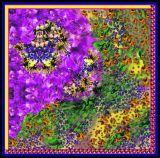 Schöner Digital gedruckter Silk Schal (F13-0075)