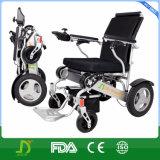 Leichtes bewegliches Aluminium-faltender Lithium-Batterieleistung-elektrischer Rollstuhl des Arbeitsweg-2017 im Auto, Flugzeug, Metro