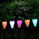 Lampes solaires de pelouse de DEL de lumière colorée imperméable à l'eau d'horizontal (QW-N200)