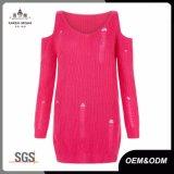 Preiswerte Form behandeln beunruhigte rote Strickjacke für Frauen kühl