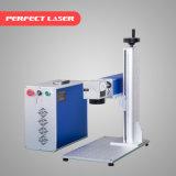 Máquina de aço da marcação do laser da fibra do PVC da pena do metal dos números de anéis