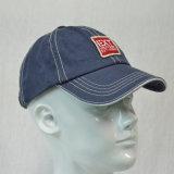 カスタム青い綿の未構造化3Dによって刺繍される野球帽