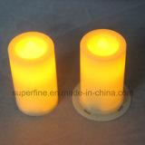 Boda portable elegante fina o iluminación votiva de la vela LED del pilar decorativo de interior de la iglesia