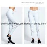 Custom Йога брюки с белой полосы сетки на ногах