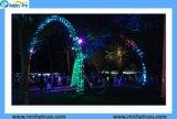 im Freienausstellung-Binder-Zelt, Binder beleuchtend, Stadiums-Binder