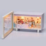 Montaje de reloj de madera casa de muñeca de la decoración del hogar
