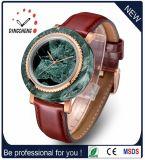 Het klassieke Marmeren Horloge van de Mensen van het Kwarts van het Geval en van het Geval van het Staal van Stainles van de Wijzerplaat