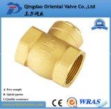 tipo profesional durable válvula de la bola del precio competitivo 1-1/4inch de verificación de cobre amarillo del resorte
