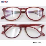 3 de Kleuren van tonen verdunnen de Nieuwe Materiële Km93 Optische Frames van de Acetaat (KF0017)