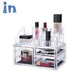 Cas de maquillage cosmétiques de haute qualité avec des tiroirs rouges à lèvres d'affichage acrylique