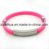 Wristband registrabile promozionale su ordinazione del silicone con Thb-012