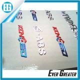 3D Soft Chrome Logo, Soft Chrome Car Logo Soft PVC Sticker를 주문 설계하십시오