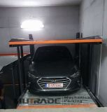 2つのポストの二重床車の駐車上昇のガレージ装置