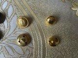 Bouton de couture de queue de fixation en laiton de métal