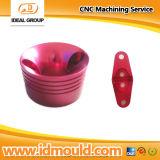 Aluminium CNC Machining Parts mit Polish und Red Anodizing