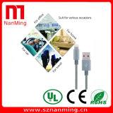Прочный кабелей молнии поручать и Sync Pin 8 USB Nylon Braided для iPhone