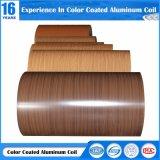 Bobina di alluminio verniciata grano di legno per il piatto di alluminio dell'inarcamento/griglia/scheda del favo/sistema del soffitto