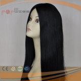 De Zwarte Pruik van uitstekende kwaliteit van het Menselijke Haar van het Kant (pPG-l-01742)