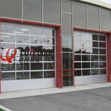 Алюминиевая коммерчески замороженная секционная стеклянная дверь гаража