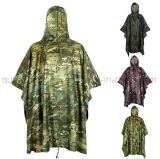 Imperméable de vêtements imperméables de poncho de couche de pluie de camouflage de chasse de PVC d'OEM